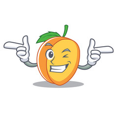 Wink apricot character cartoon style vector