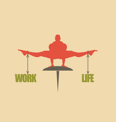 Work and life balance concept of the scales vector