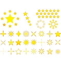 Yellow stars vector image