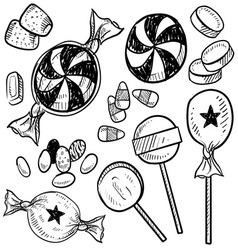 doodle candy vector image