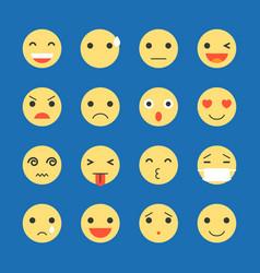 emoji icon set vector image