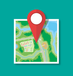 folded paper city map icon vector image vector image