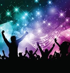 Party crowd vector image vector image