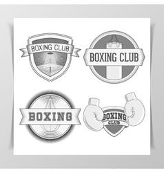 Set of vintage Boxing Labels vector image vector image