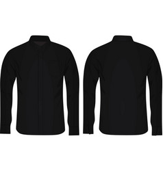 black long sleeve shirt vector image