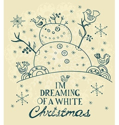 Christmas Card for xmas design with hand drawn vector image