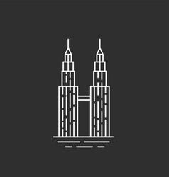 malaysia landmark twin towers vector image vector image