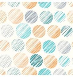 Seamless pattern with hand drawn polka dot vector image vector image