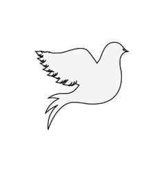 Silhouette of pigeon logo design vector