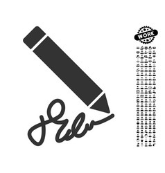 Writing pencil icon with job bonus vector