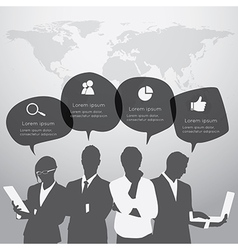Business people are standing vector image vector image
