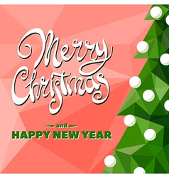 Christmas tree with garland vector image vector image