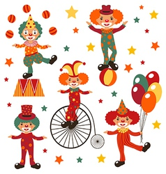 Clowns vector image