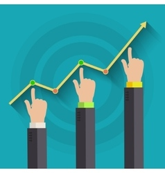 Concept of business success vector image vector image