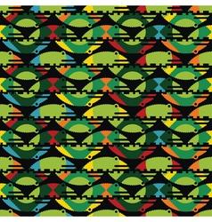 green crocodiles vector image vector image