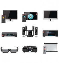 video equipment icon set vector image vector image