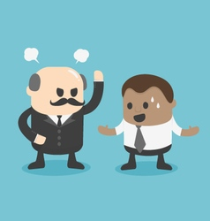 angry boss conceptYoung African businessman vector image vector image