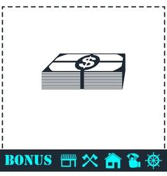 Bundle money icon flat vector image