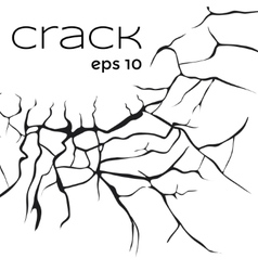 Crack vector image