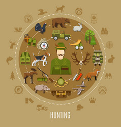 hunting concept vector image
