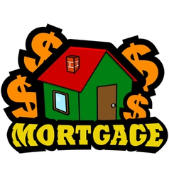 Mortgage icon vector image vector image