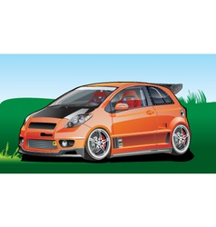 Orange car vector
