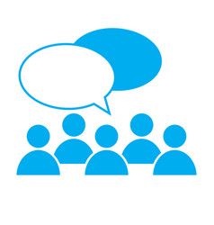 people talking icon on white background discuss vector image vector image