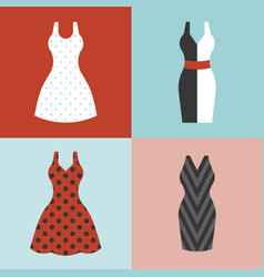 woman dress in vintage style vector image