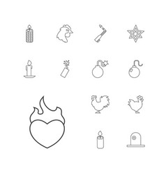 13 fire icons vector