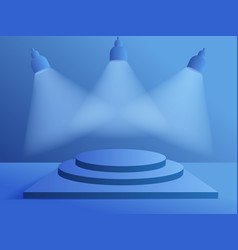 3d modern minimalist mockup podium for product vector