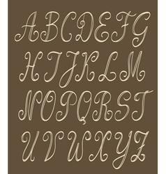 abc set handwritten vector image