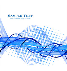 Abstract futuristic blue background wave vector