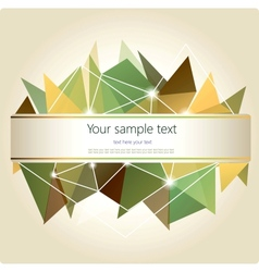 Abstract geometric background with place for your vector