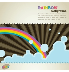 abstract retro background with rainbow vector image
