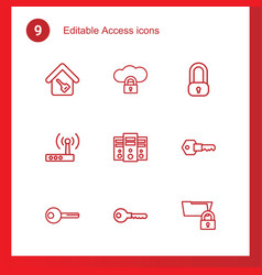 access icons vector image