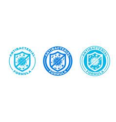 Antibacterial hand gel icon shield logo anti vector