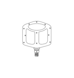Bike pedals flat icon vector