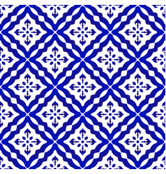 blue and white pattern design vector image