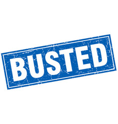 Busted square stamp vector