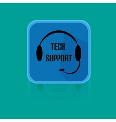 Call Centrum Flat Design Button Tech Support vector image