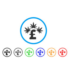cannabis pound business rounded icon vector image