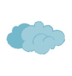 cartoon cloud with trendy noisy texture isolated vector image