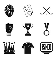 Champ icons set simple style vector