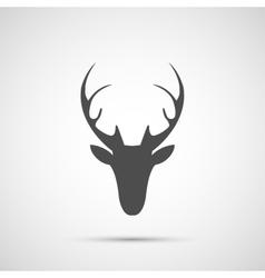 Christmas deer head icon vector