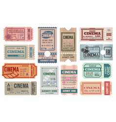 cinema tickets templates retro admits vector image
