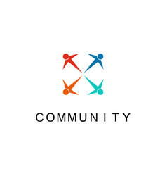 community people logo vector image