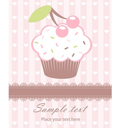 Cupcake newborn card vector