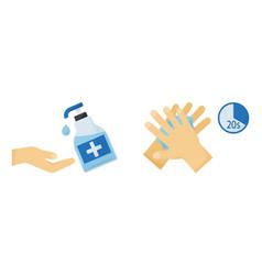 Disinfection hand sanitizer washing gel vector