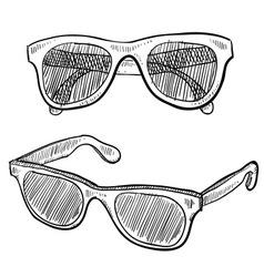 Doodle sunglasses famous vector