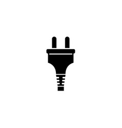 Electric power plug electrical adapter flat icon vector